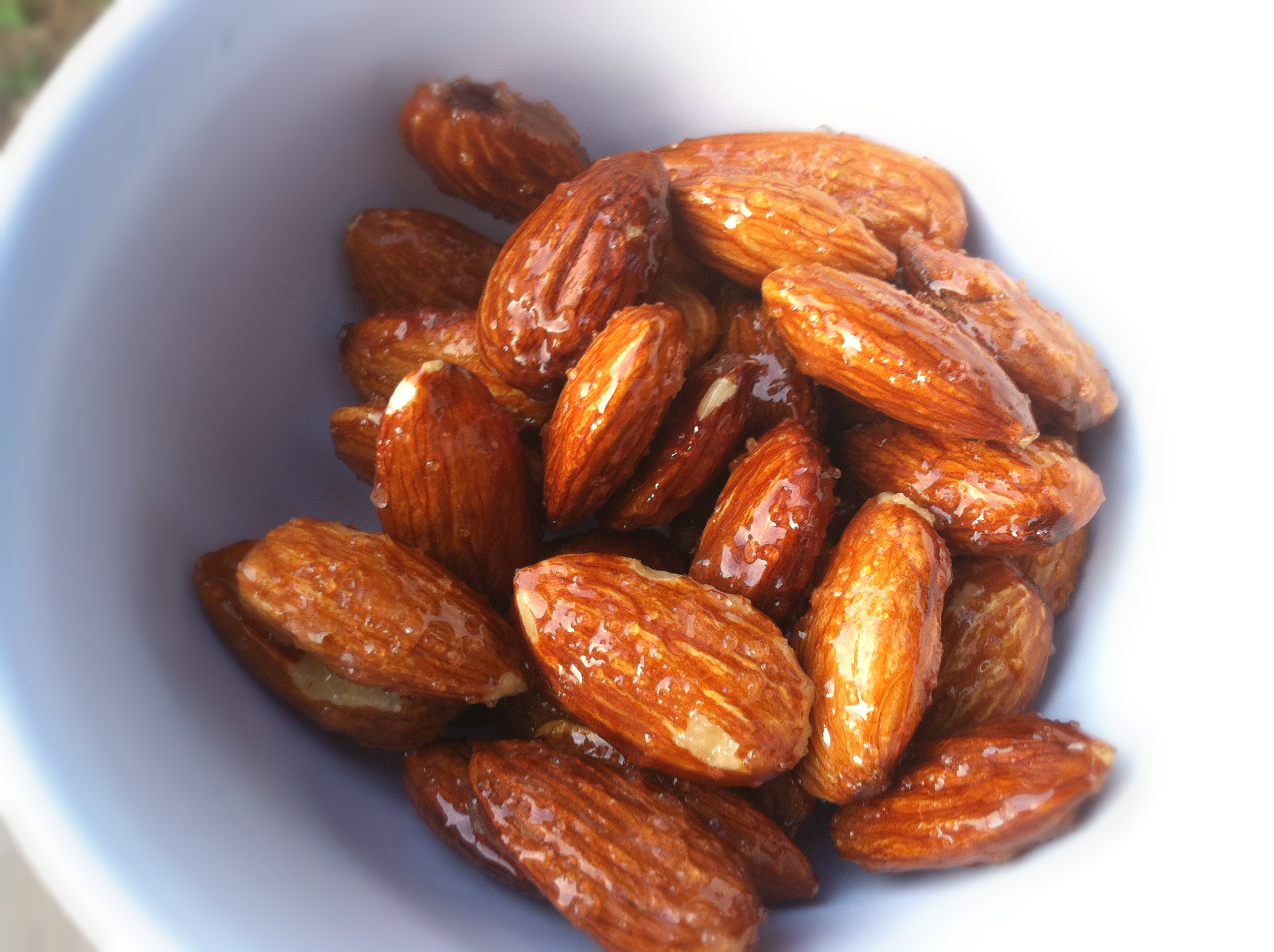 Honey and almonds
