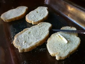 Just a tea spoon of butter makes the toast go down