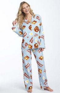 For some reason bacon-and-pancake pajamas don't make the morning hunger much better
